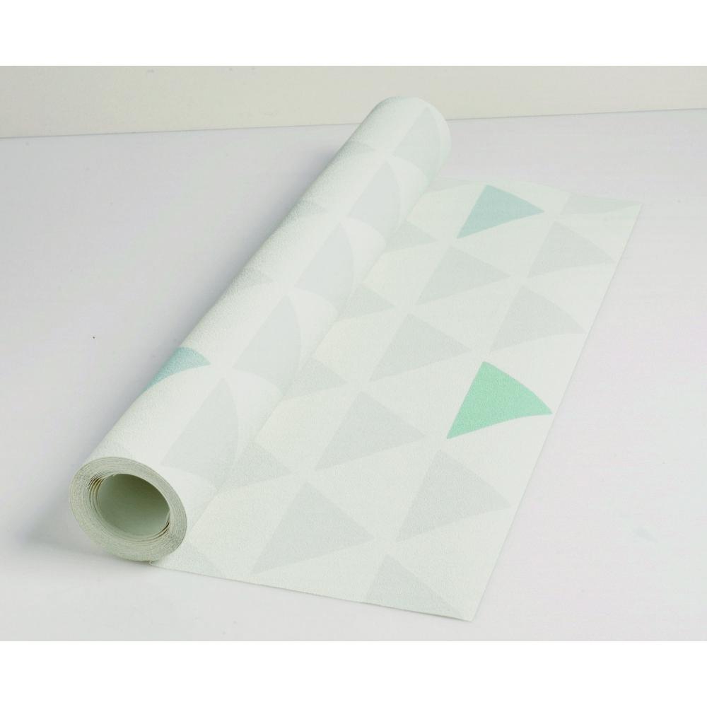 Papier peint vinyle lourd sur intissé triangle L.10,05 x l.0,53cm ...