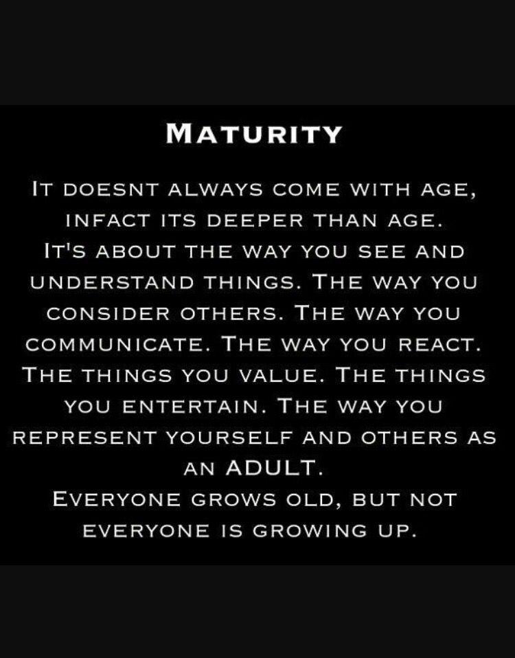 Maturity Quotes Maturity Quotes Relationship Quotes