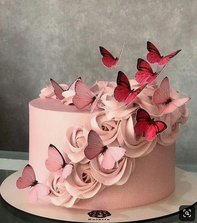 Butterflies Pink Cake Decorating Flowers Beautiful Birthday Cakes Buttercream Cupcakes