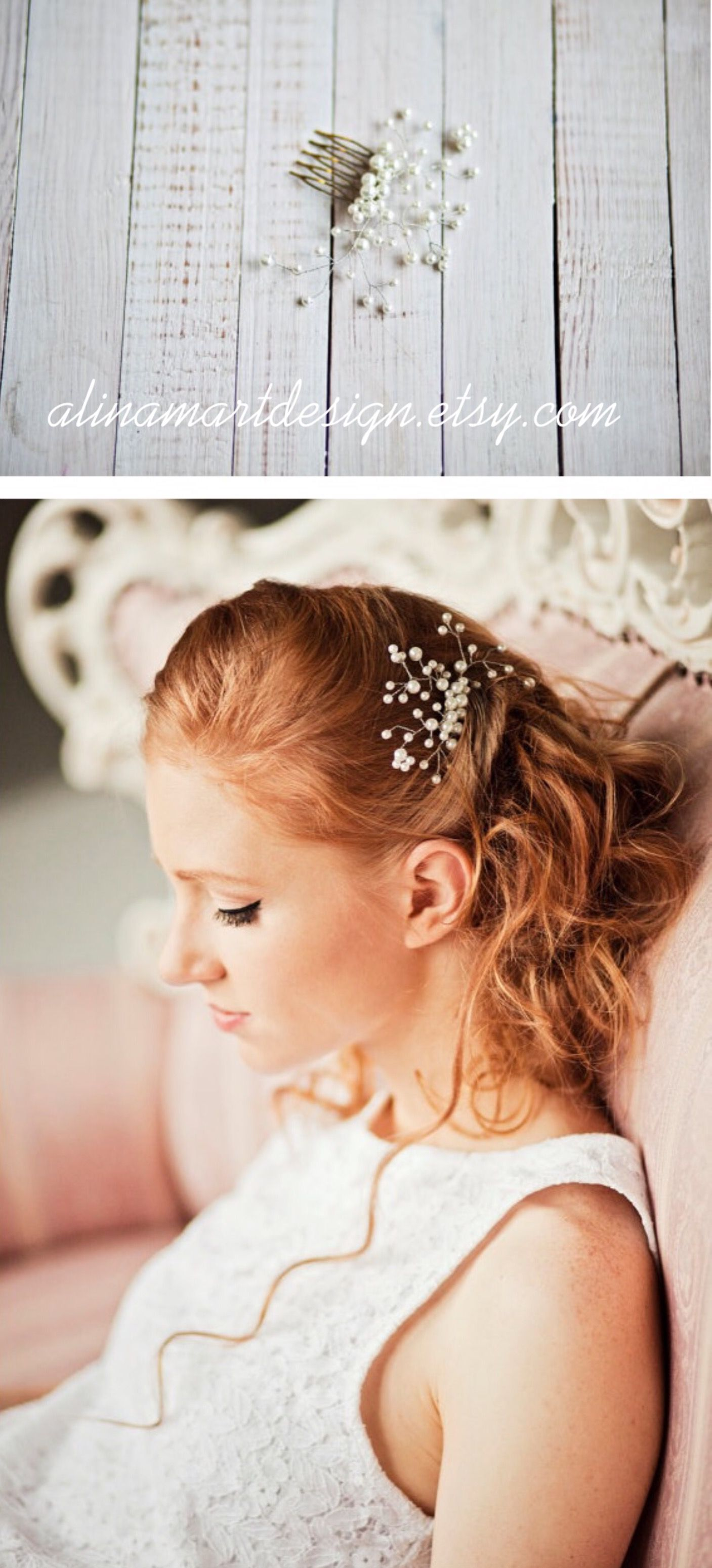 Wedding hair comb Bridal pearl hair piece Bridal Pearl hair comb