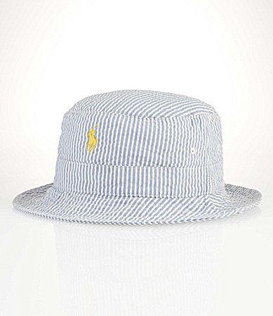 Polo Ralph Lauren Seersucker Beachside Bucket Hat  Dillards ... 6f6b64e27d4