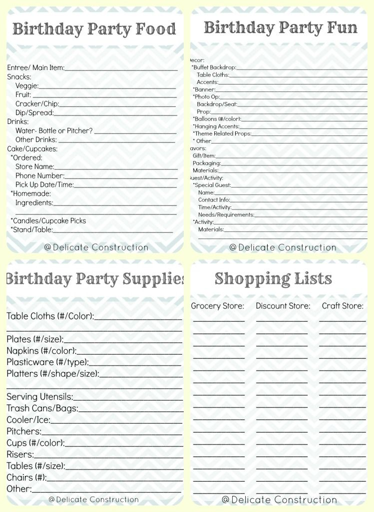 Free Printable Party Checklist  Printable Party Timeline And Check