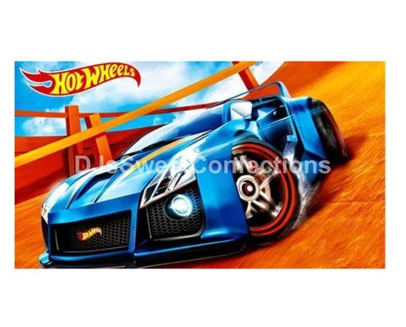 Hot Wheels Boys Birthday Cake Topper In 2018 Edible Cake Toppers