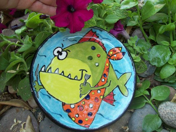 Dessert Plate by dianefortneypottery on Etsy