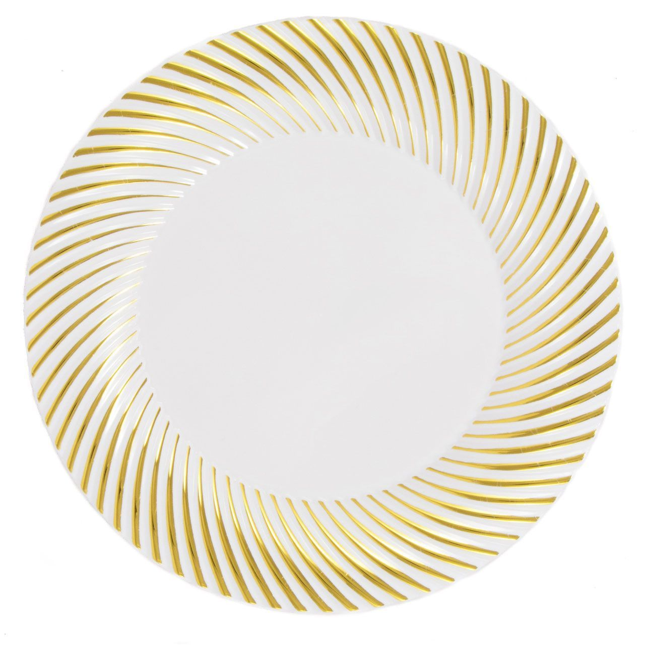 Plastic 10 1/4 Inch White Dinner Plate with Gold Rim/Case of 120  sc 1 st  Pinterest & Plastic 10 1/4 Inch White Dinner Plate with Gold Rim/Case of 120 ...