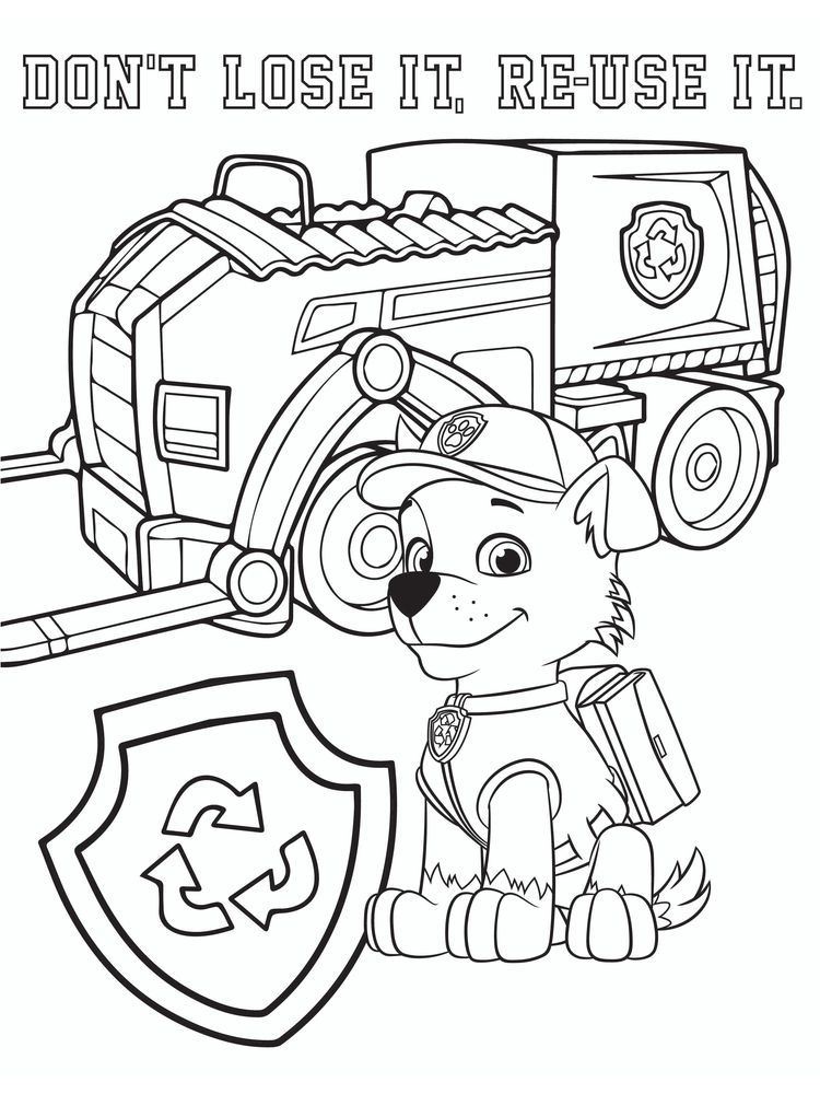 Paw Patrol Coloring Pages Rocky The Following Is Our Collection Of Easy Paw Patrol Coloring Paw Patrol Coloring Pages Paw Patrol Coloring Bear Coloring Pages