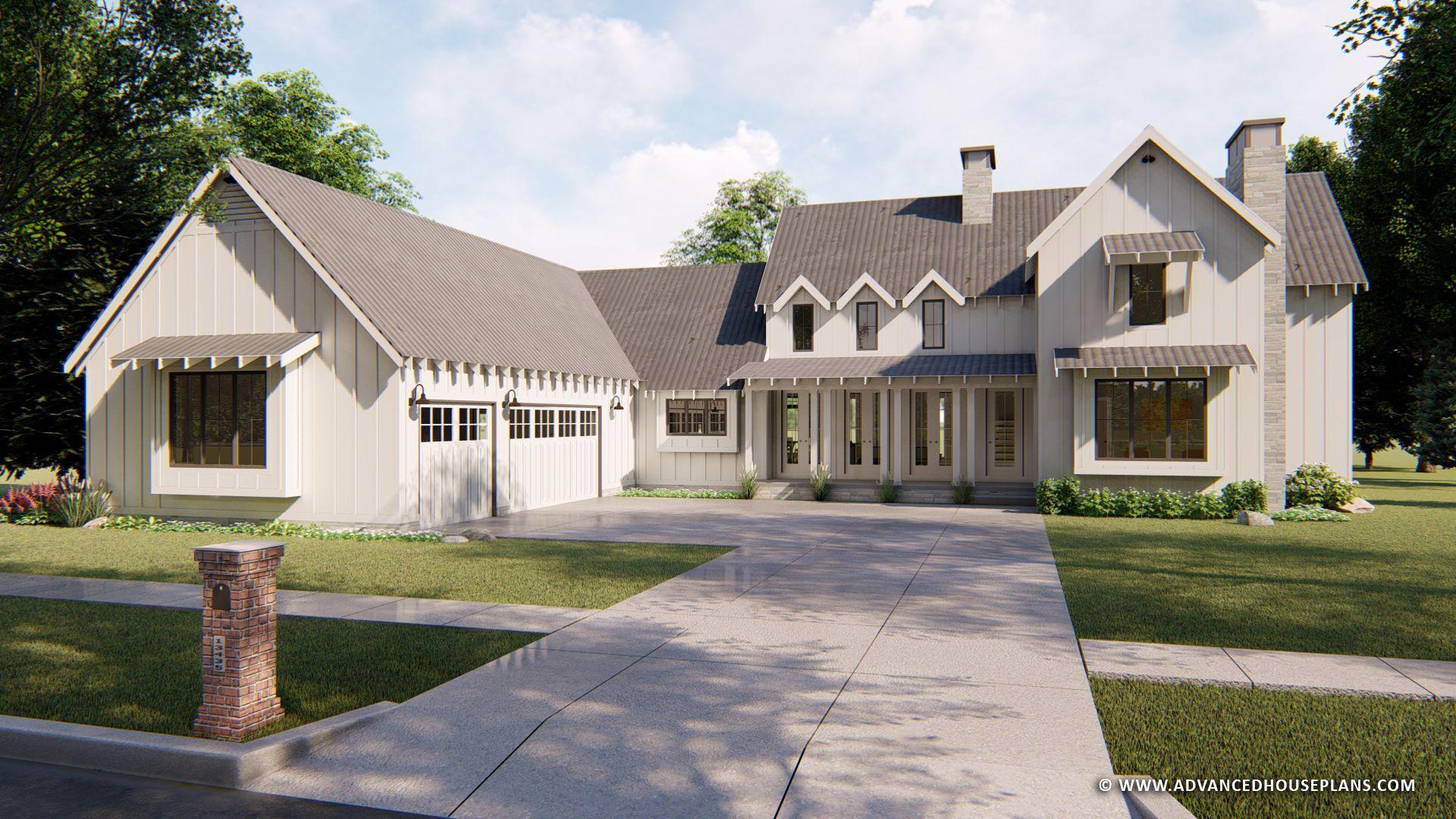 1 1 2 Story Modern Farmhouse House Plan Summerfield Modern Farmhouse Plans Farmhouse Style House Plans Farmhouse Layout