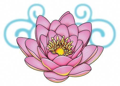 Waar Henna Tattoo Kopen: Lotus Lower Back Temporary Tattoo