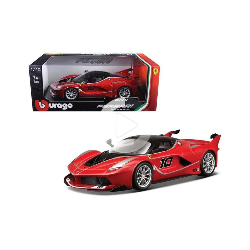 Ferrari FXX-K #10 Red 1/18 Diecast Model Car by Bburago