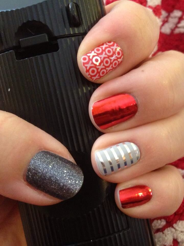 Jamberry - Showing The new Valentines Wrap Hugs And Kisses www.junef.jamberrynails.net