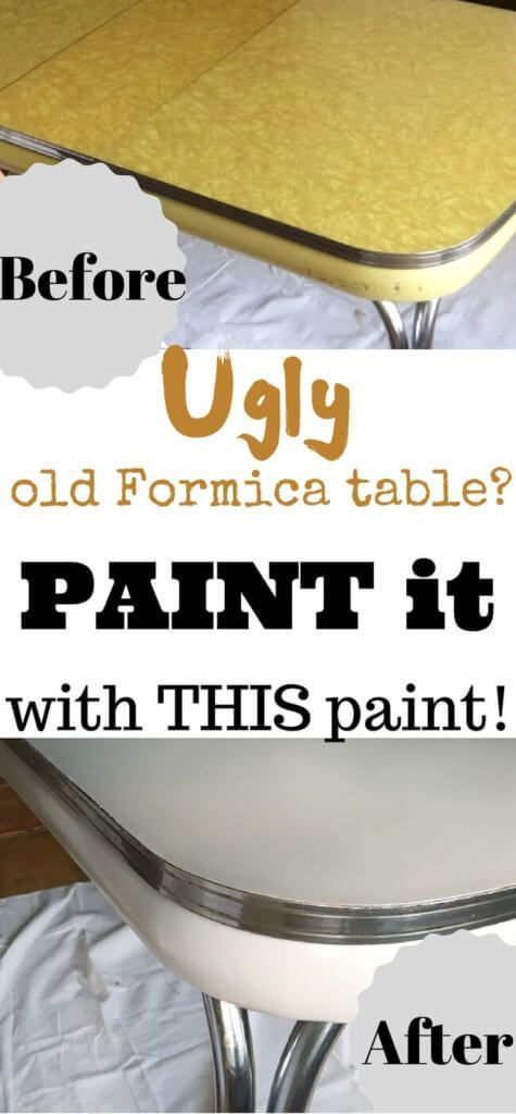 Old Formica Table Gets A Fresh New Look Painting