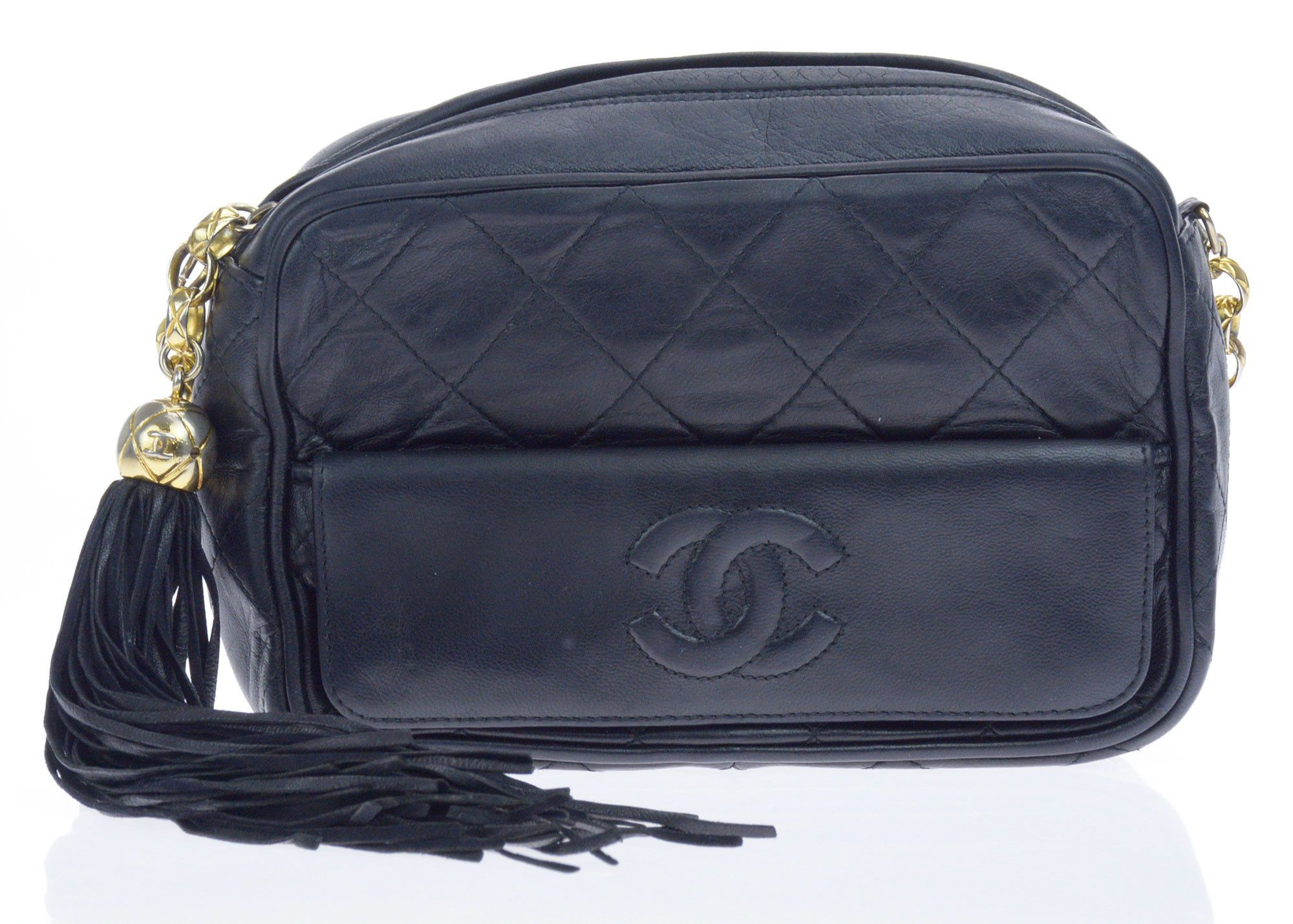 03b0ee5769b0 Chanel Black Vintage Lambskin Leather Small Camera Bag | Christmas ...
