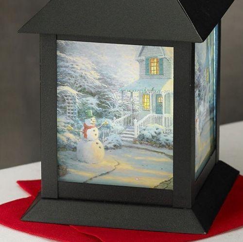 Heomra Qeutmi on Night, Led lantern and Snowman