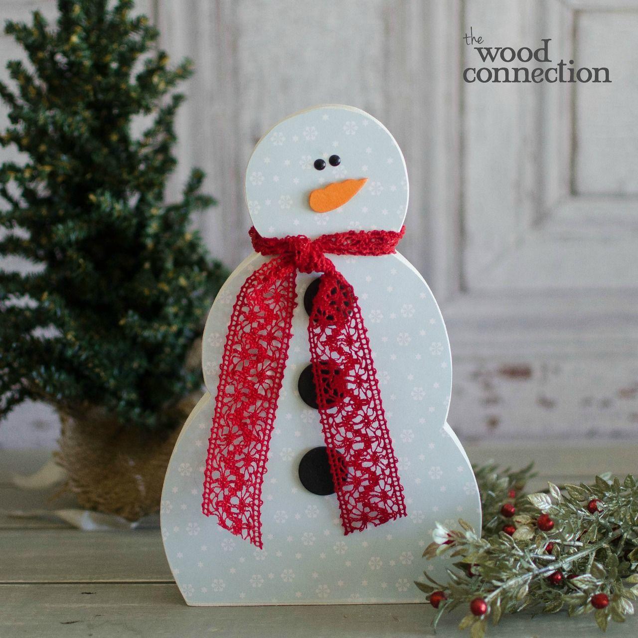 DIY Wood Snowman Winter decorations diy, Diy wood