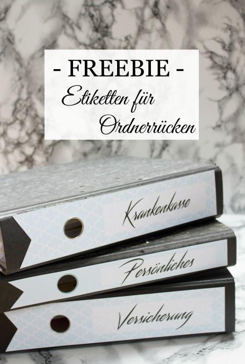 Homestyling Freebie Facelift Für Akten Ordner Laundry