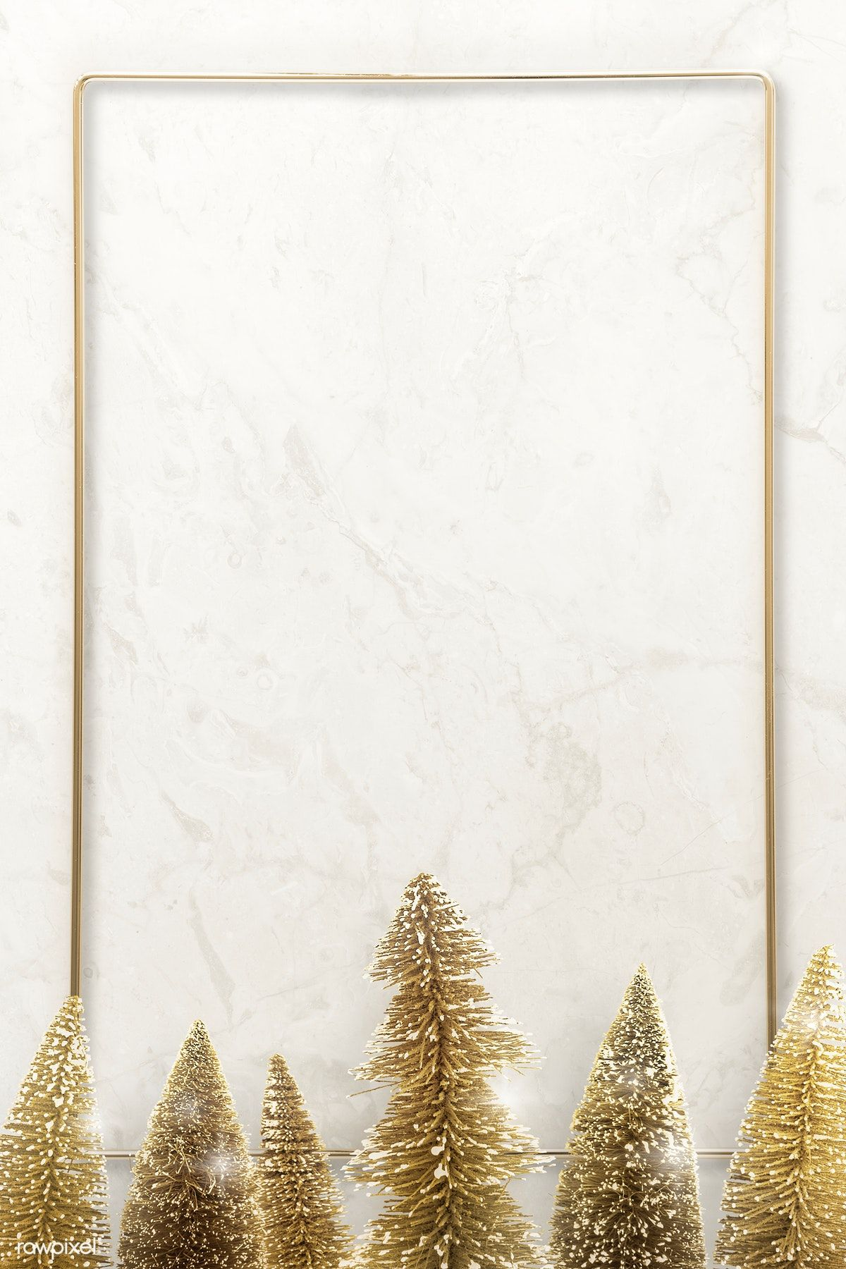 Download Premium Psd Of Gold Frame With Christmas Tree Illustration 1233121 Christmas Tree Wallpaper Christmas Background Christmas Wallpaper Backgrounds