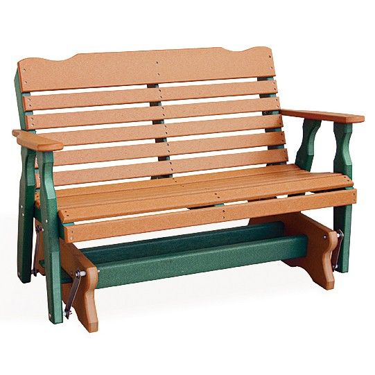 Patio Furniture West Chester Pa: Amish Poly West Chester 4' Glider Bench