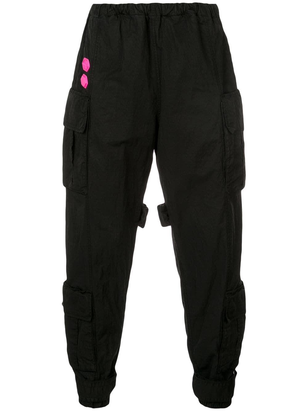 e217e8434e71 OFF-WHITE OFF-WHITE TAPERED CARGO TROUSERS - BLACK.  off-white  cloth
