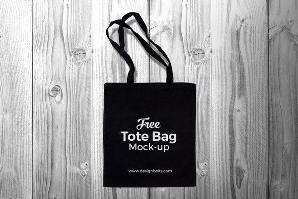 Download Free Black Cotton Tote Shopping Bag Mock Up Psd Black Tote Bag Tote Bag Black Tote