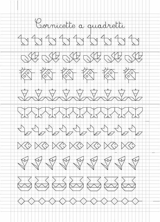 Pin de UlaB en Szlaczki   Dibujos en cuadricula, Dibujos