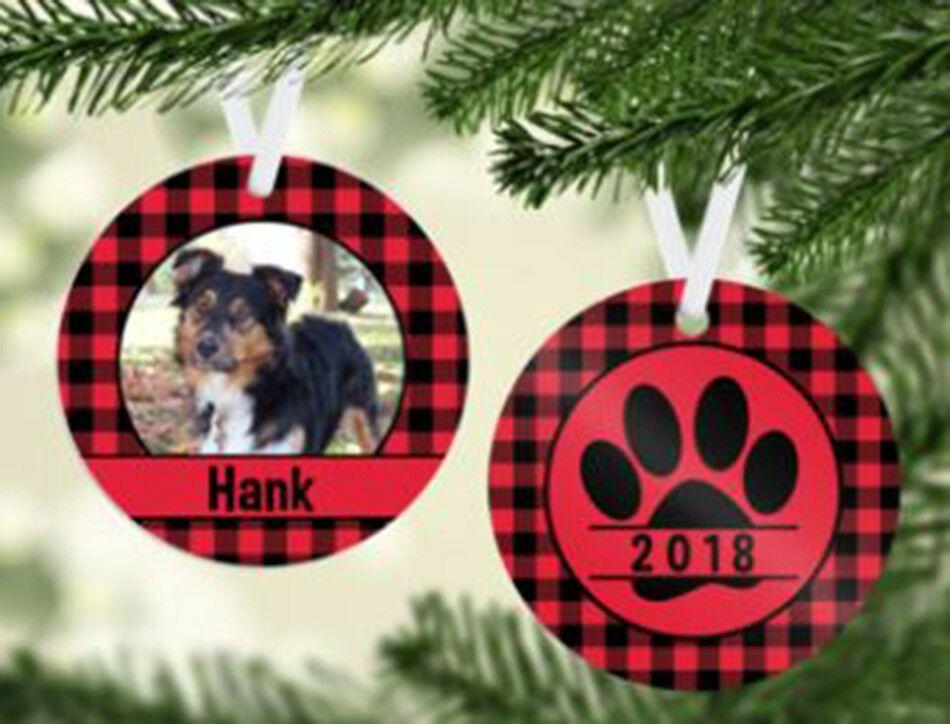 Personalized ceramic Dog Pet Christmas Ornament custom