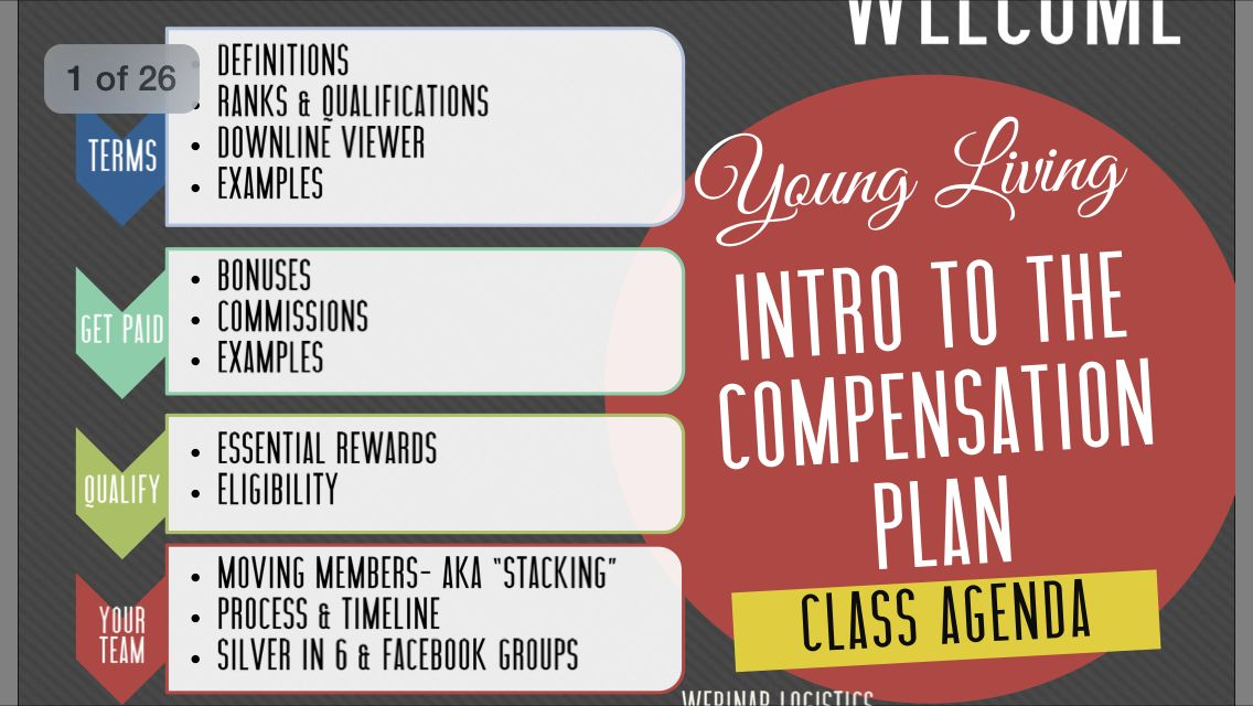 Intro to YL compensation plan http//www
