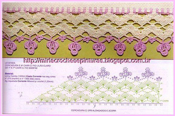 MIRIA CROCHÊS E PINTURAS: BARRADOS DE CROCHÊ COLORIDOS N°398