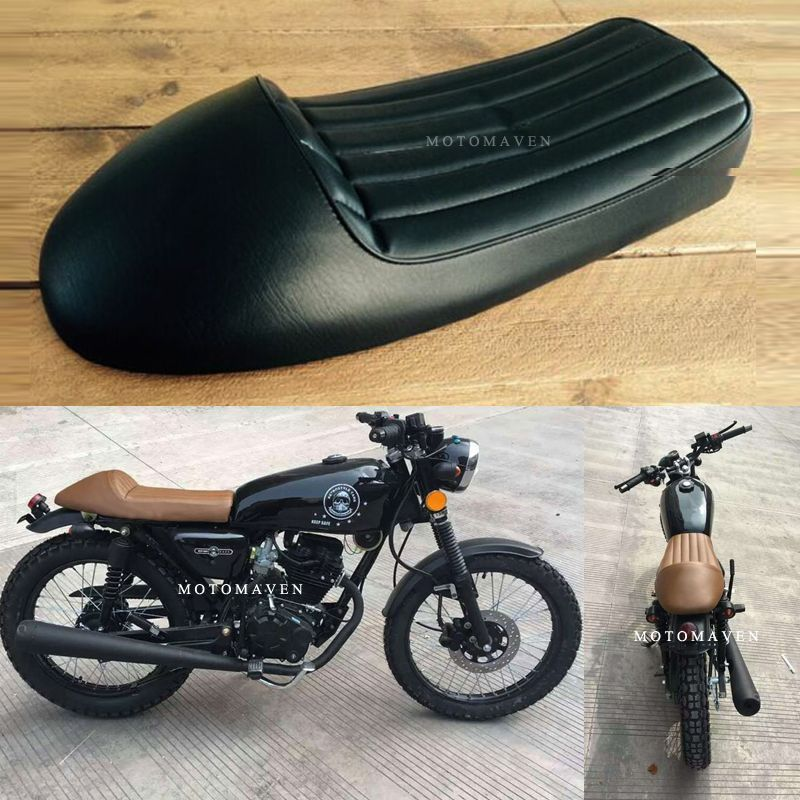 Black Vertical Stripes Seat Cover Retro Motorcycle Cg125 Seat Cb 250