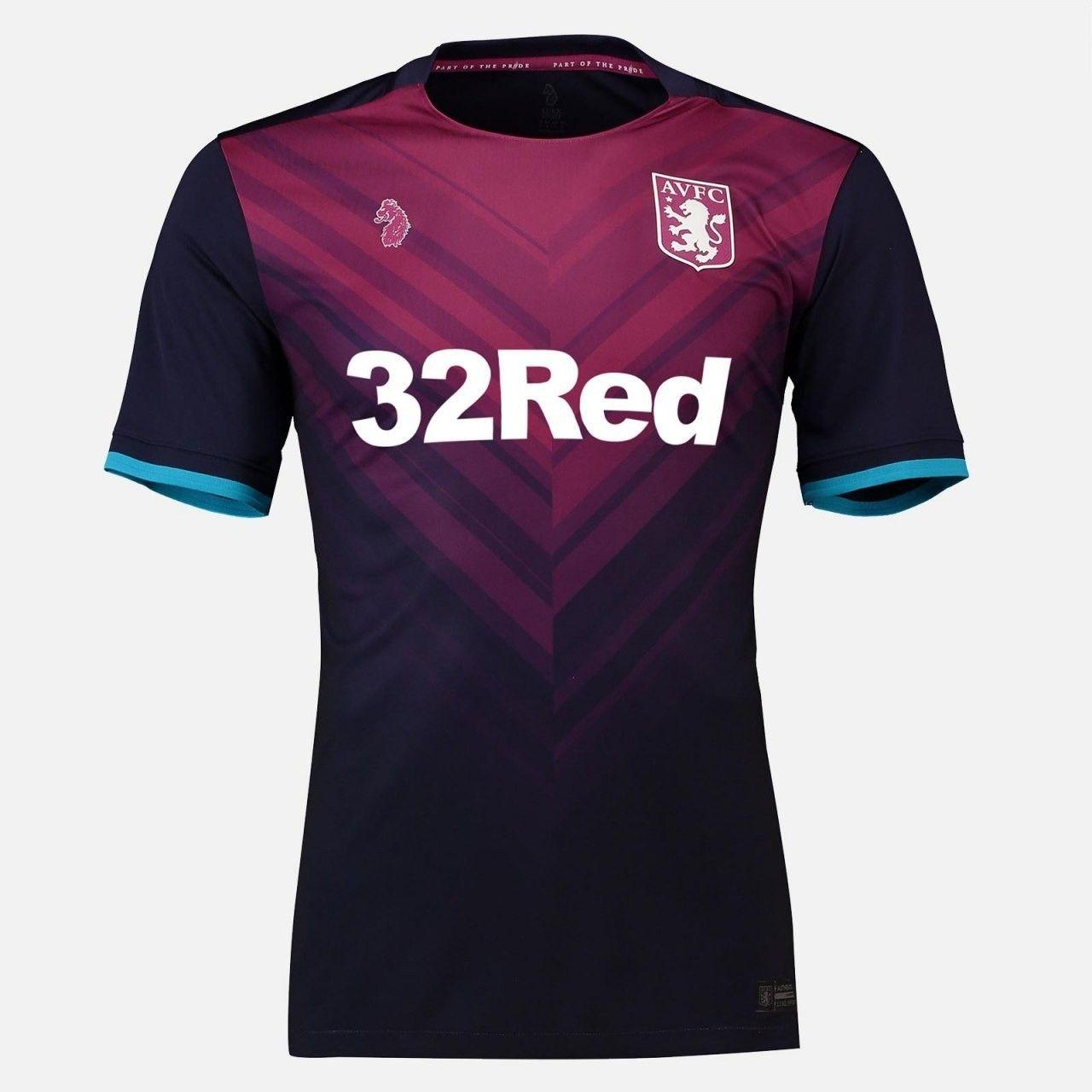 66e7436557 Aston Villa 18/19 third Uniformes Futebol, Camisas De Futebol, Camisa De  Basquete