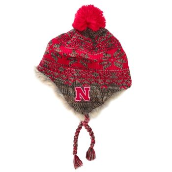 Adidas University of Nebraska Marled Fair Isle Trapper Hat | from ...