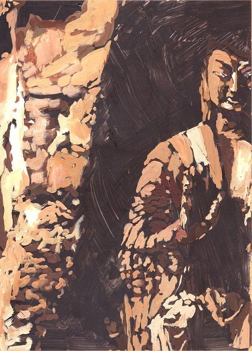 Buddha in Cave - NarayaniArts - Paintings & Prints Ethnic Cultural & Tribal Asian… | ArtPal thumbnail