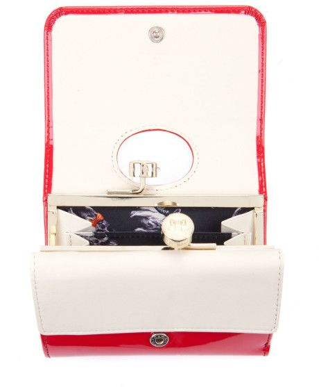 a0f63318753745 Ted Baker Ted Baker Rebekka Small Bow Bobble Purse in Red
