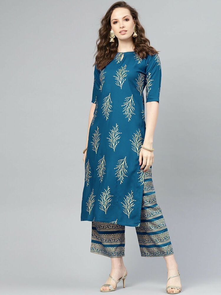 Daily Wear Suit Printed Kurti Salwar Kameez Ethnic Dresses Women kurta Indian Women/'s Rayon Cotton Kurti with Skirt Indian Salwar Suit