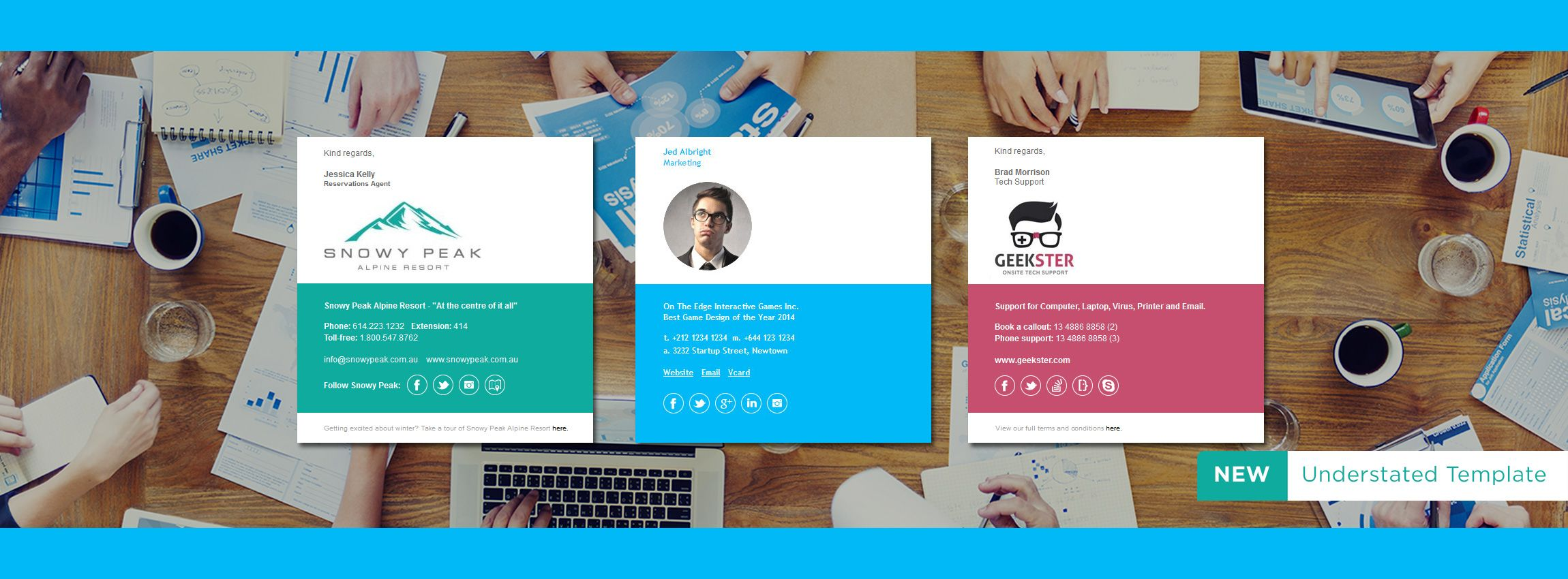 Email Signature Template Examples, just a taste of what you can ...