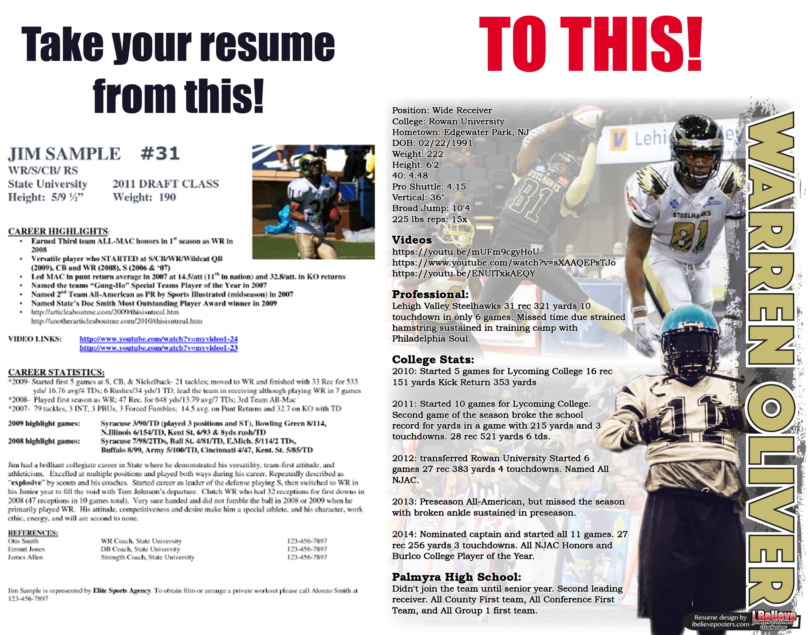 sports resume  athlete resume  recruiting  sports