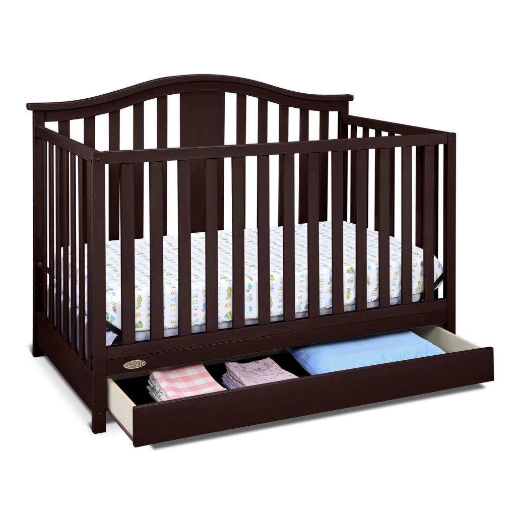 Graco Solano 4 In 1 Convertible Crib With Drawer Baby Cribs Convertible Convertible Crib Baby Cribs