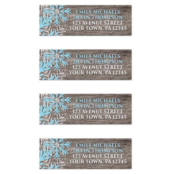 snowflake address label