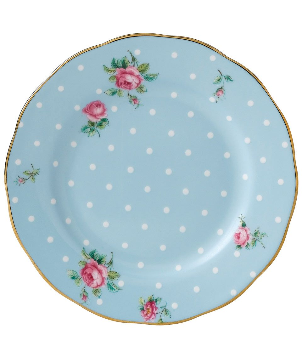 Dollhouse Miniatures In Las Vegas: Polka Blue Vintage Bread And Butter Plate, Royal Albert £