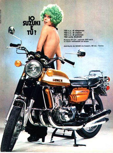 VINTAGE SUZUKI GS-1000 MOTORCYCLE BANNER