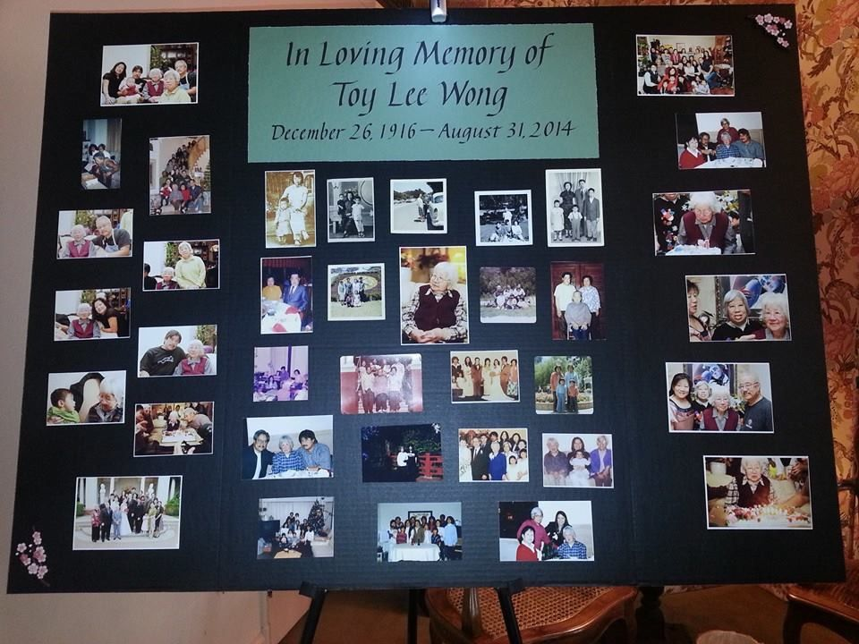 Funeral photo memorial board - calligraphy drawn by professional