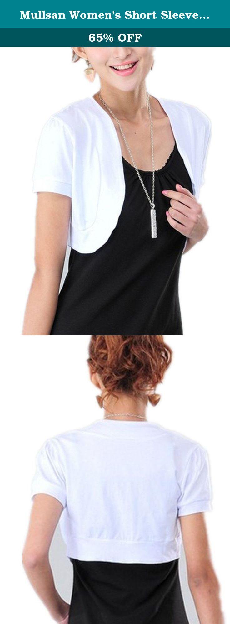 Mullsan Women's Short Sleeve Shrug Cardigan Top (White). Pair this ...