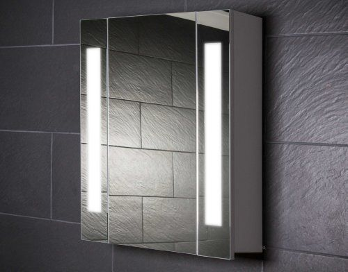 Galdem CURVE60 Spiegelschrank, holz, 60 x 65 x 15 cm, wei   - spiegelschrank badezimmer günstig