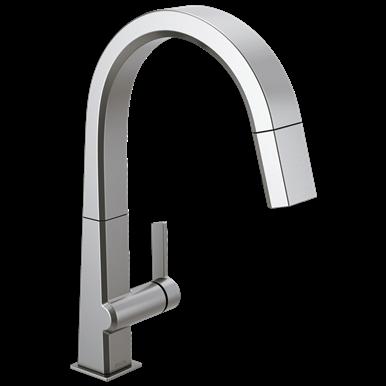 Delta Pivotal Single Handle Pull Down Kitchen Faucet Arctic