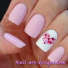 how to make Valentines day nail art