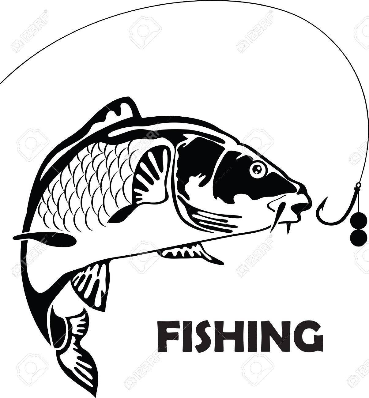 carp fish, vector illustration , #affiliate, #fish, #carp