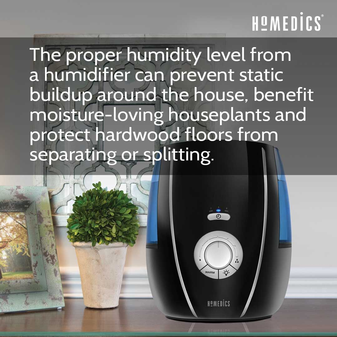 The Proper Humidity Level From A Humidifier Can Prevent Static Buildup Around The House Benefit Moisture Loving Housepl In 2020 Humidifier Humidity Levels Air Quality