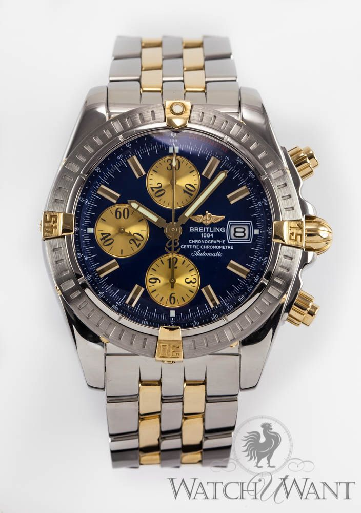 Breitling Chronomat Evolution Chronograph 44mm Stainless Steel 18k Yellow Gold Horloges