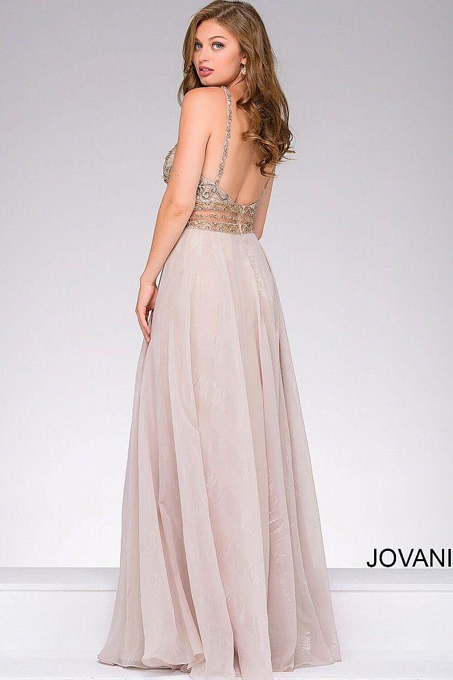 Silver Chiffon Beaded Bodice Prom Dress 41597 | Rdresses | Pinterest ...