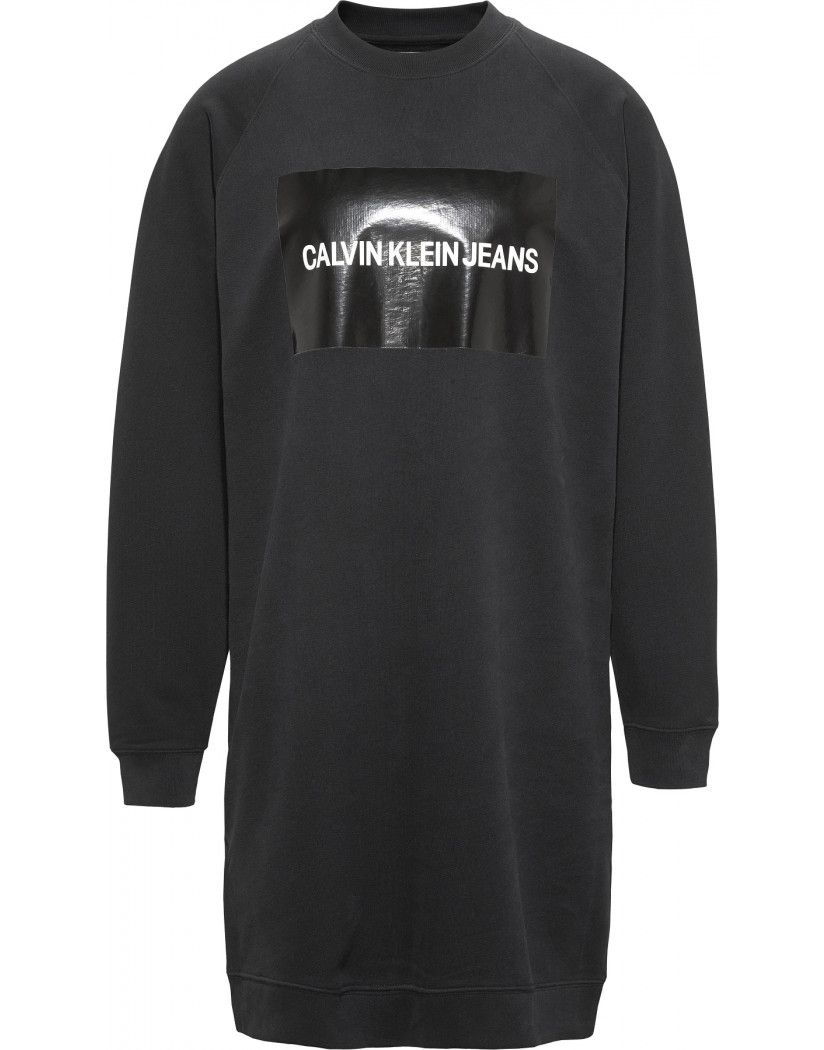 6dad9a0b88 The Calvin Klein Box Logo Sweatshirt Dress will guarantee a unique look   whilst its Black Box logo is understated this piece can look formal in an  instant ...