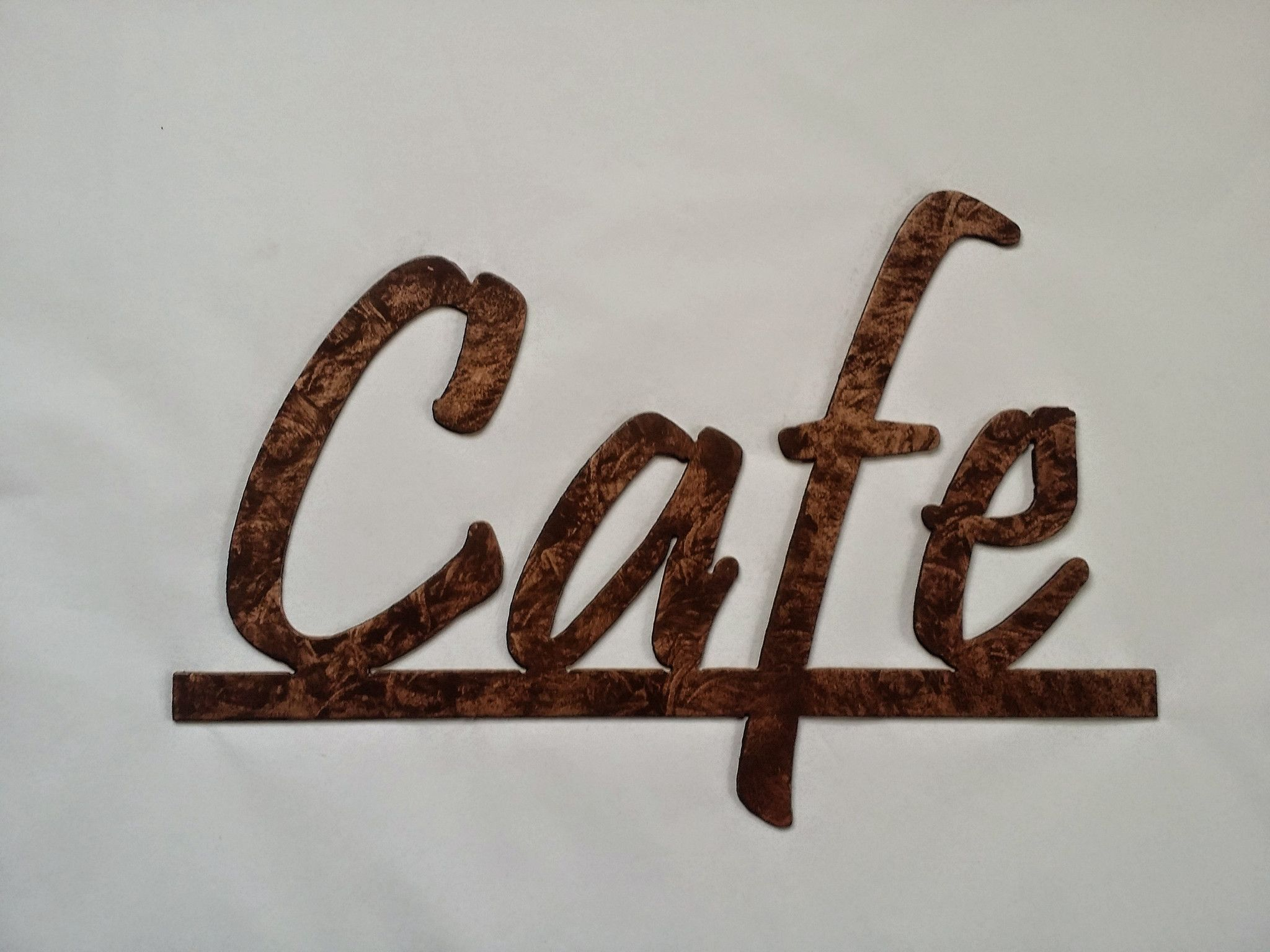 Cafe Word on Bar Kitchen and Home Decor Metal Wall Art - Antique ...
